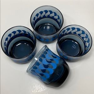Vintage Blue Glass Tumblers